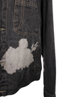 Dark Denim Recycled & Painted Jacket