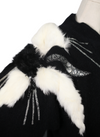 Vintage Alex Bargondian Fur & Bead Sweater