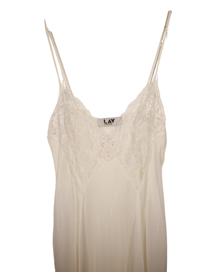 White Lace Lingerie Nightgown