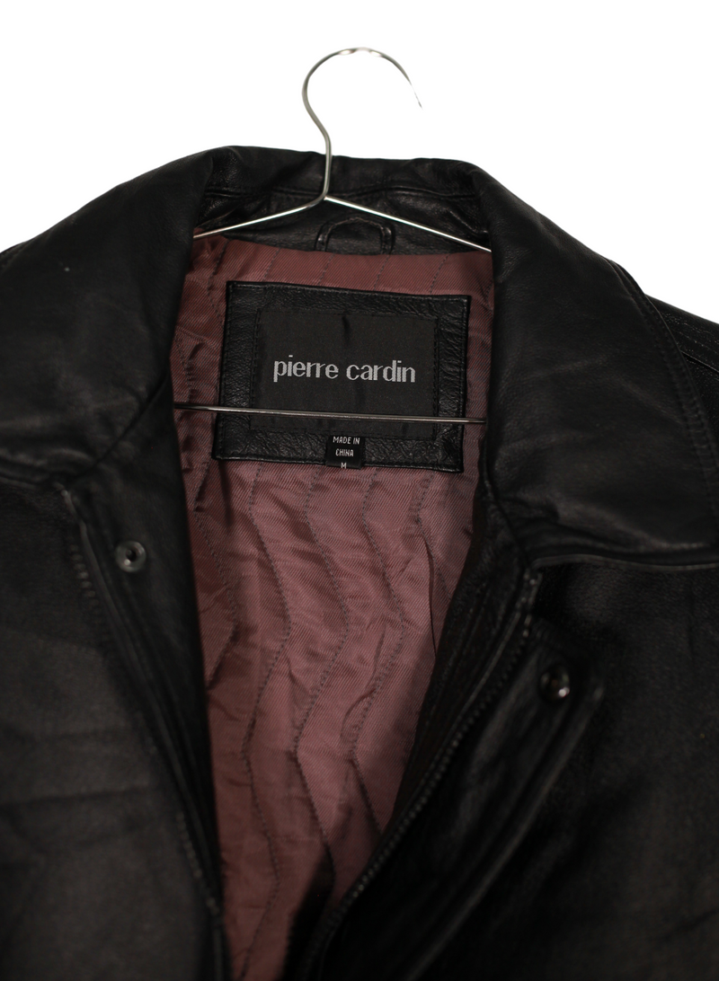 Vintage Pierre Cardin Leather Coat