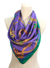 Royal & Regal Purple Silk Scarf Top