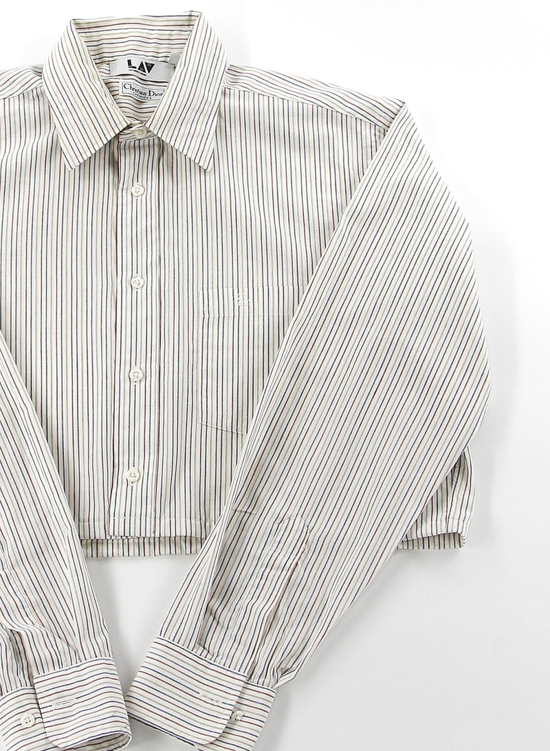 Christian Dior Striped Cropped Shirt