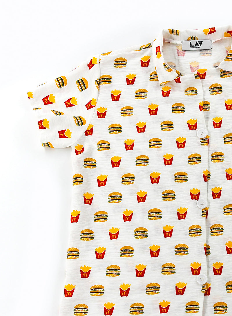 McDonald's Burgers and Fries Printed Shirt