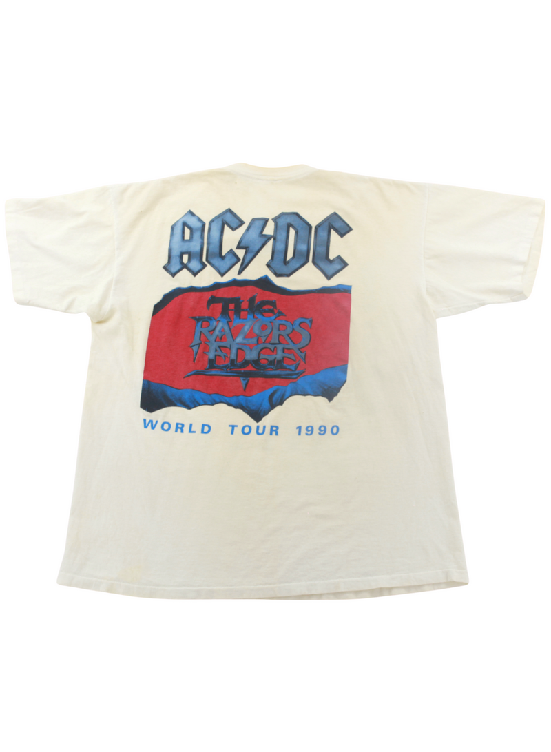 "ACDC ""Razors Edge World Tour 1990"" Vintage Tee"