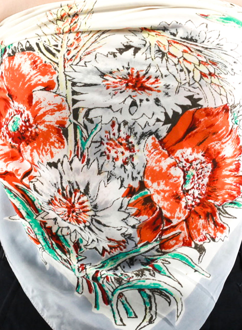 Blossoming Flower Scarf Top