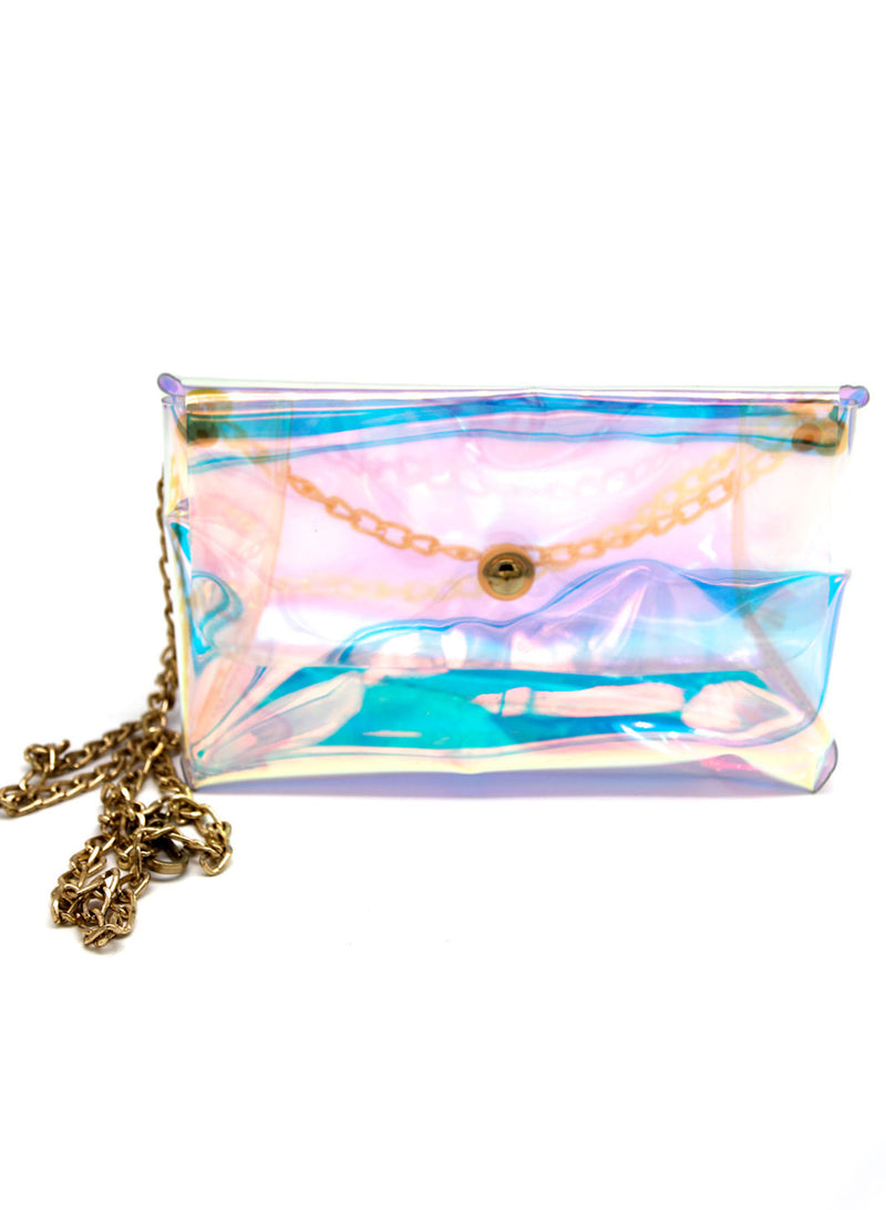 Iridescent Bag with Chain
