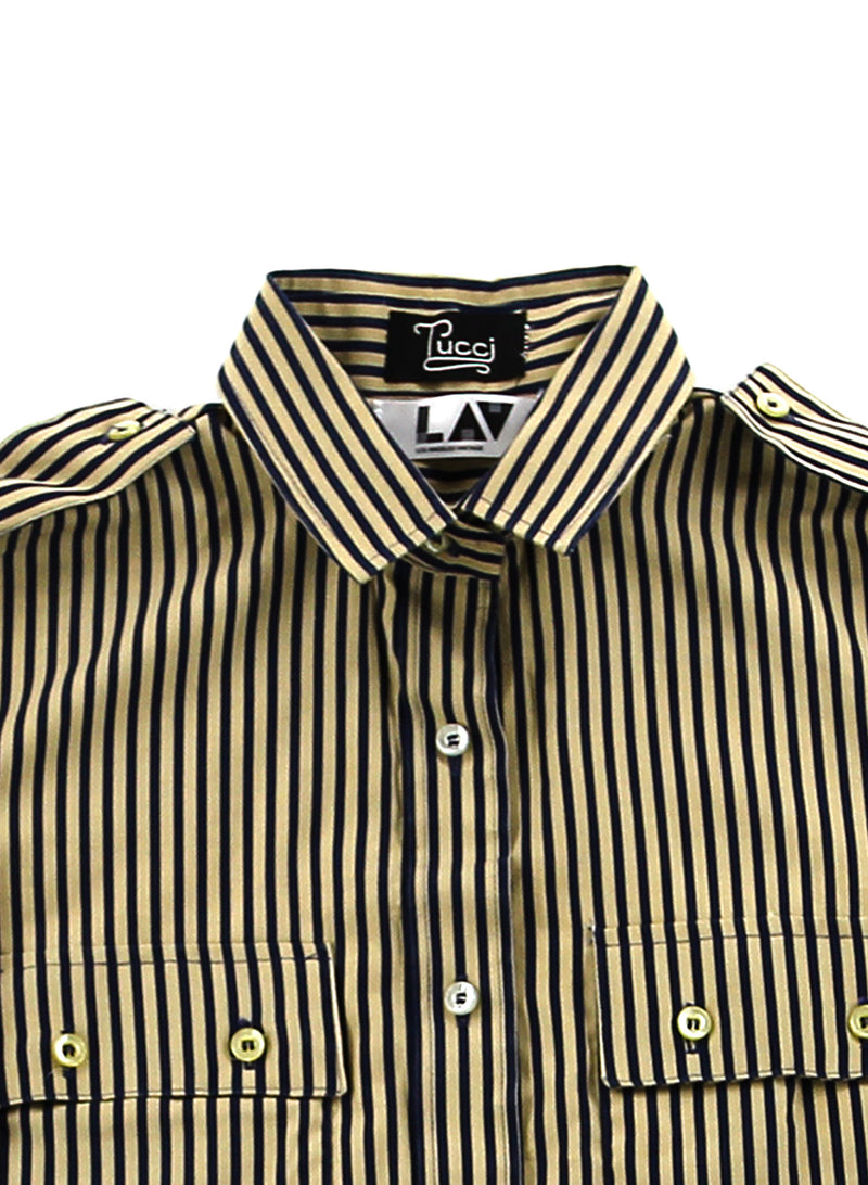 Pucci Striped Cropped Shirt