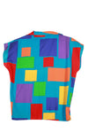 Vintage 80s/90s Color Blocked Button-Up