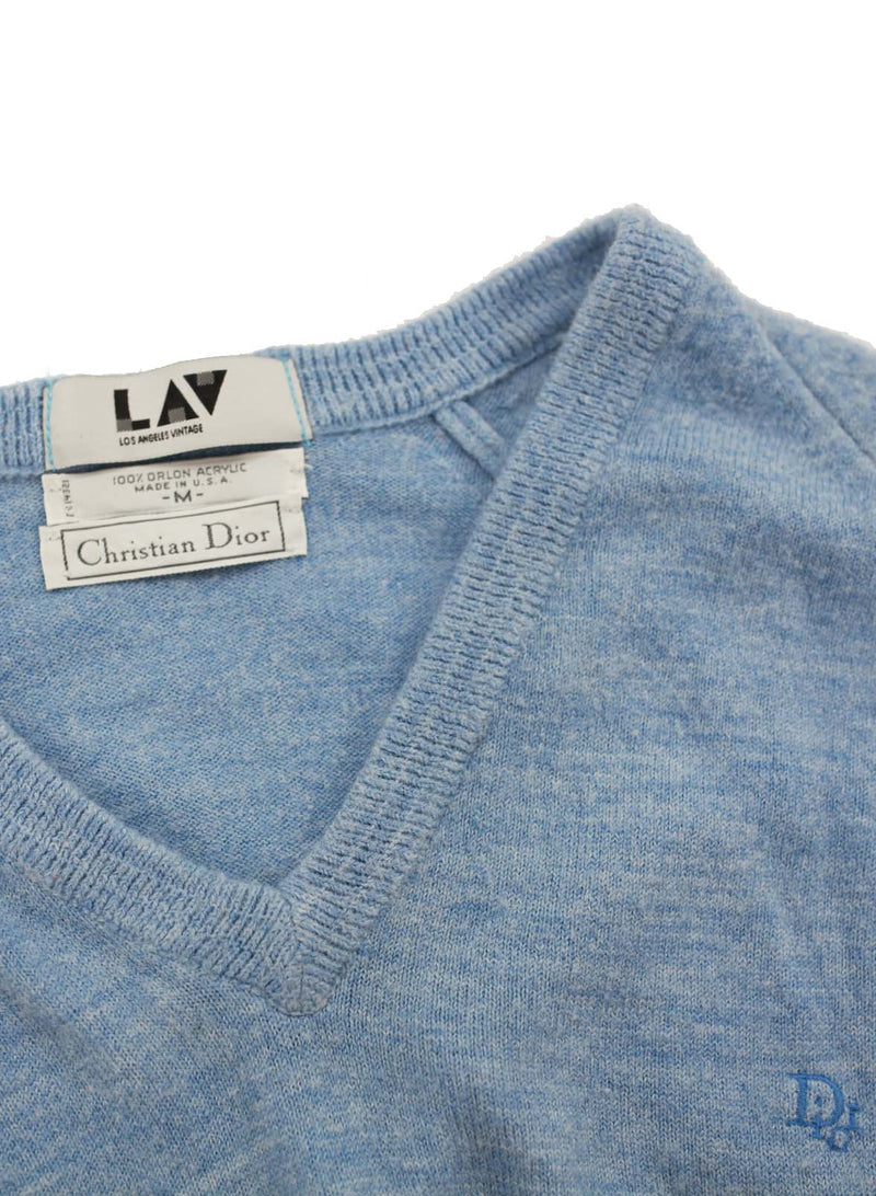 Christian Dior Baby Blue Cropped Sweater