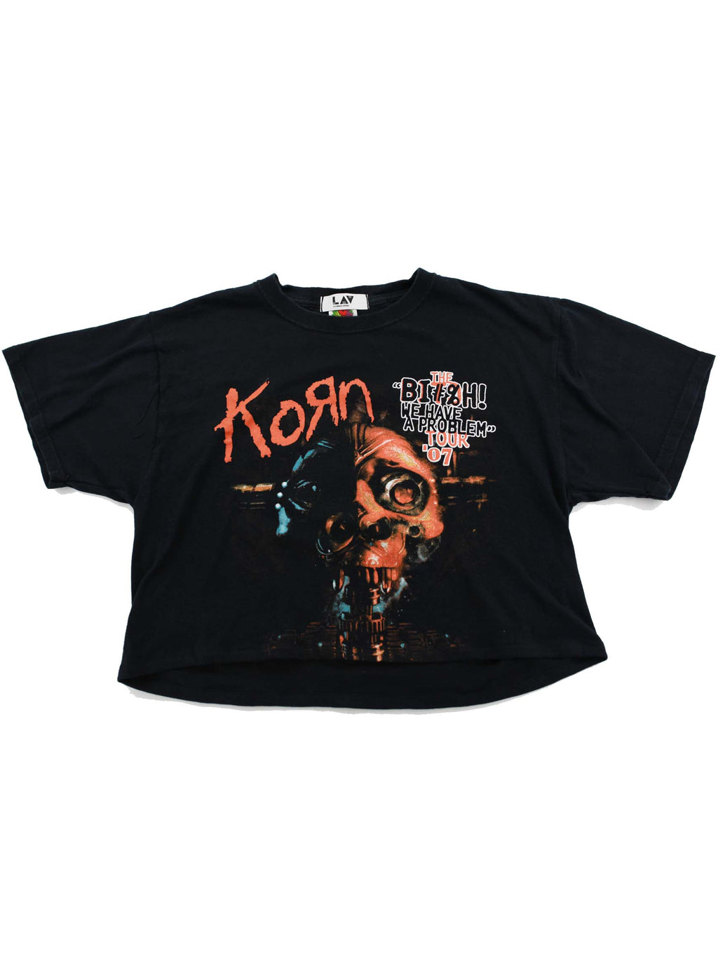 """THE BI#H! WE HAVE A PROBLEM"" KORN TOUR '07 Cropped Band Tee"
