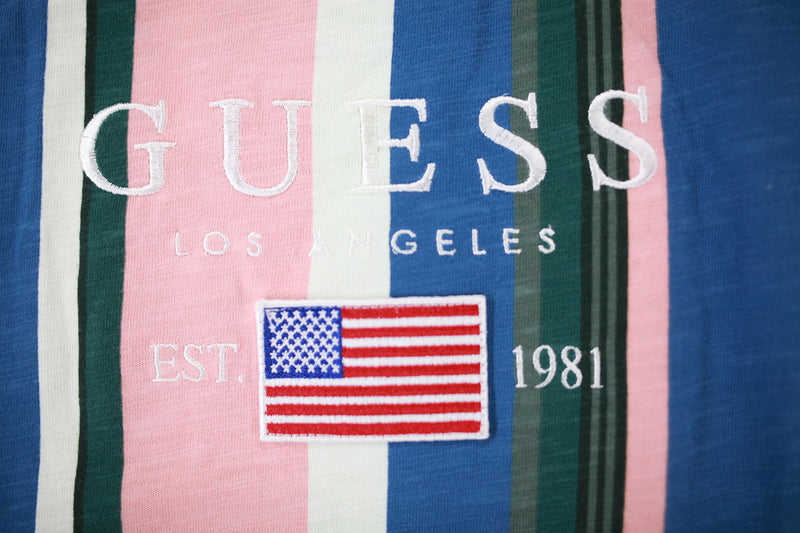 Guess Los Angeles 1981 Striped Tee