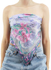 Pastel Blooming Flowers Silk Scarf Top