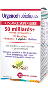 Urgence Probiotiques 50 milliards +. New Roots