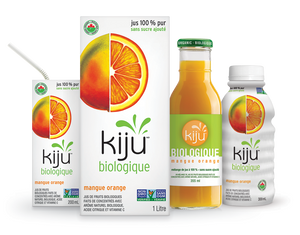 KIJU- JUS DE MANGUE ET ORANGE BIOLOGIQUE