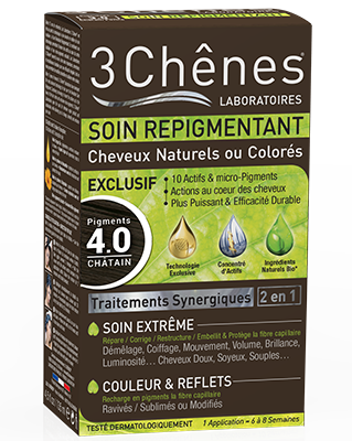 3 CHÊNES SOIN REPIGMENTANT 4.0 CHATAIN