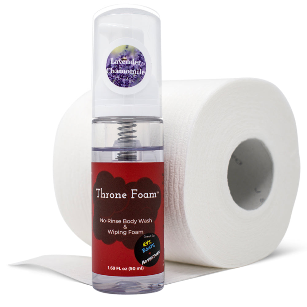 Throne Foam Travel Wipes 1.69 Fl oz.