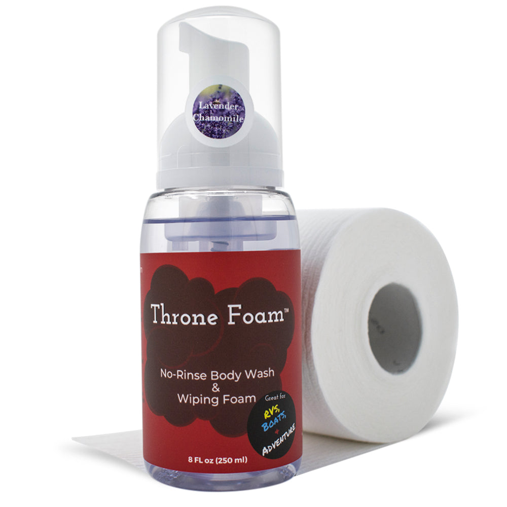 Throne Foam Adult Wipes Alternative 8 Fl oz.