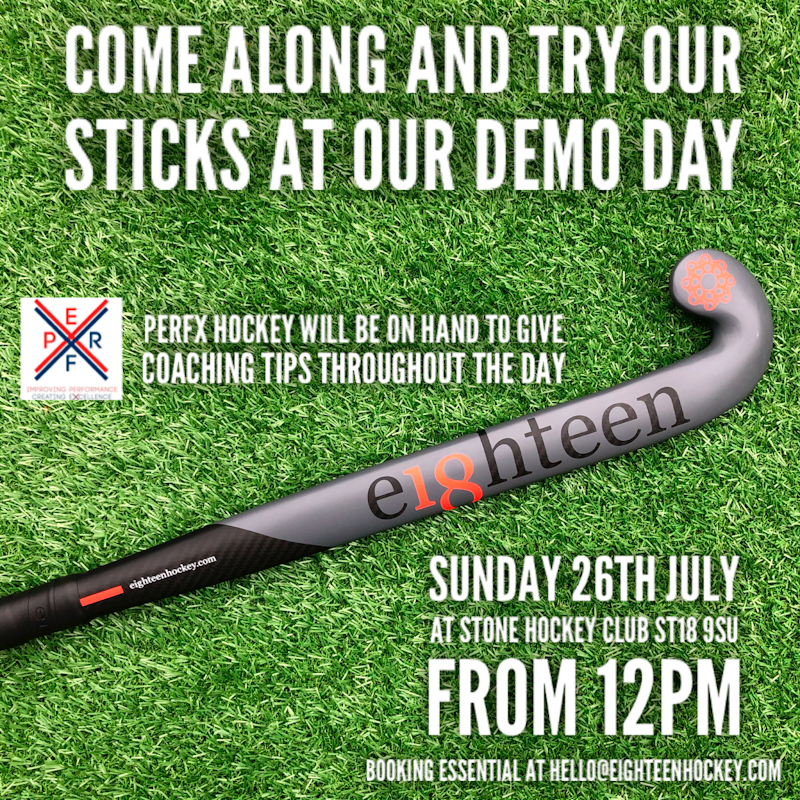 Demo Day Sunday 26th July at Stone Hockey Clun St18 9SU 12pm Onwards