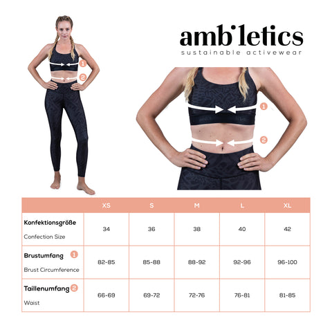 Größentabelle Ambiletics Sustainable Activewear