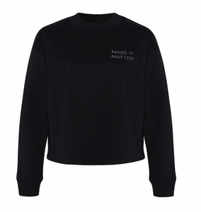 Make It Matter Sweater Black