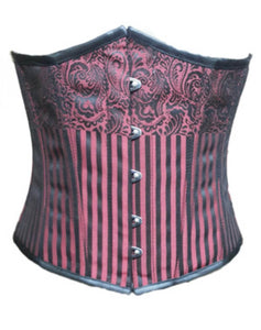 pink and black Underbust brocade corset Costume For Halloween 2019 Top-