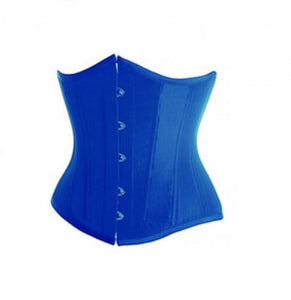 Blue Satin Gothic Plus Size Underbust Corset Waist Training Burlesque Costume