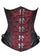 Red Black Brocade Leather Gothic LONGLINE Underbust Plus Size Corset Waist Training