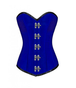Silk Corset With Seal Lock LONGLINE Overbust Plus Size Corset Steampunk Costume