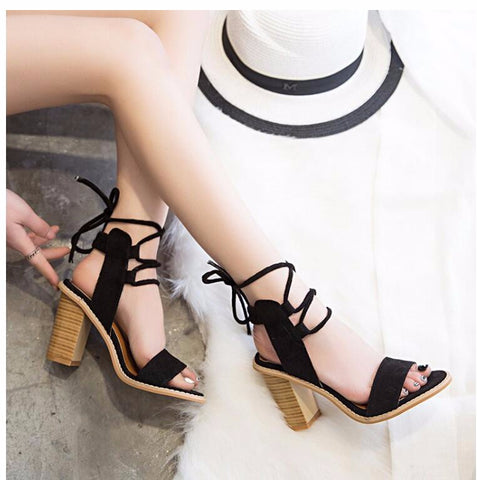 Lace up Heels - ATTRACTIVE AGAIN