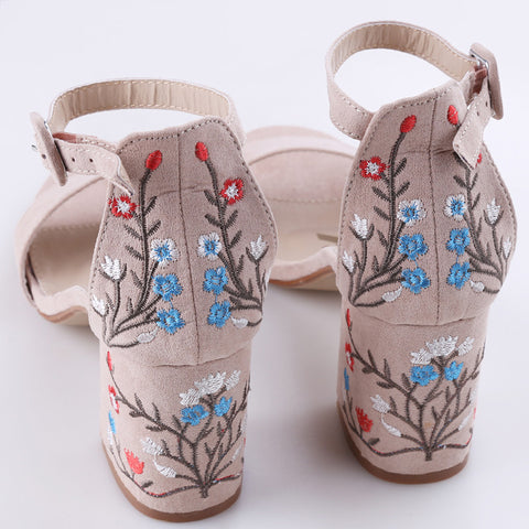 Embroidered High Heel - ATTRACTIVE AGAIN