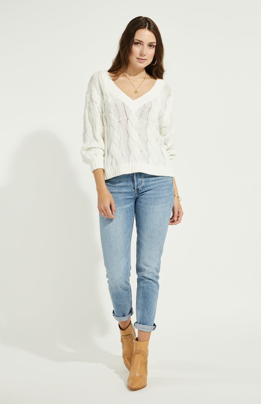 Gentle Fawn Heritage Sweater - White