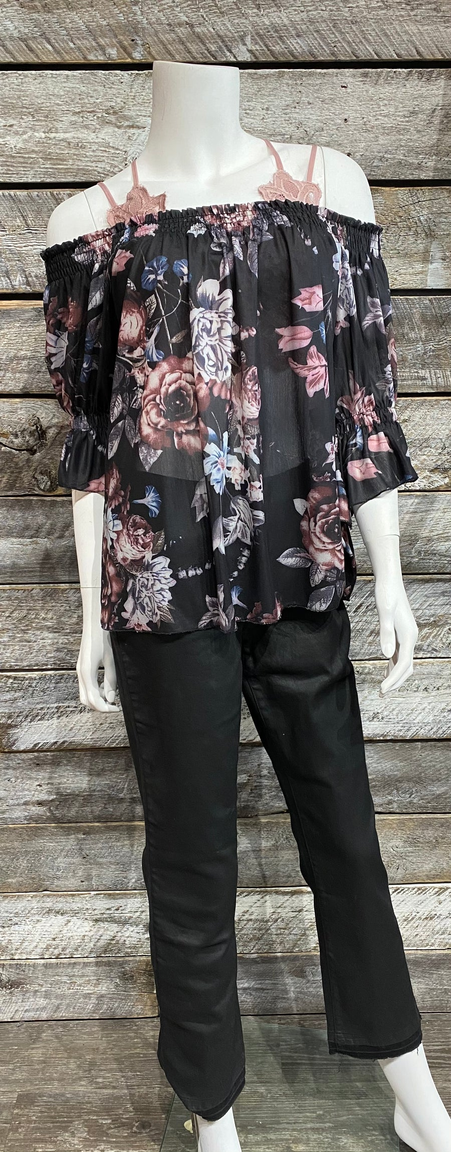 Papillon PT-07070 Floral Off-Shoulder Blouse