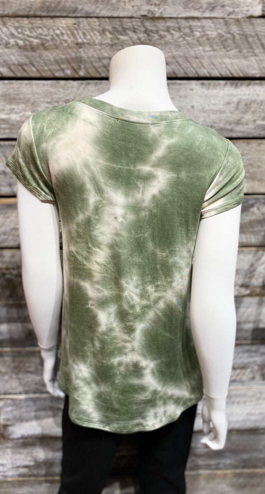 Papillon PT-07110 Soft Tie Dye Stretch T-Shirt - Moss