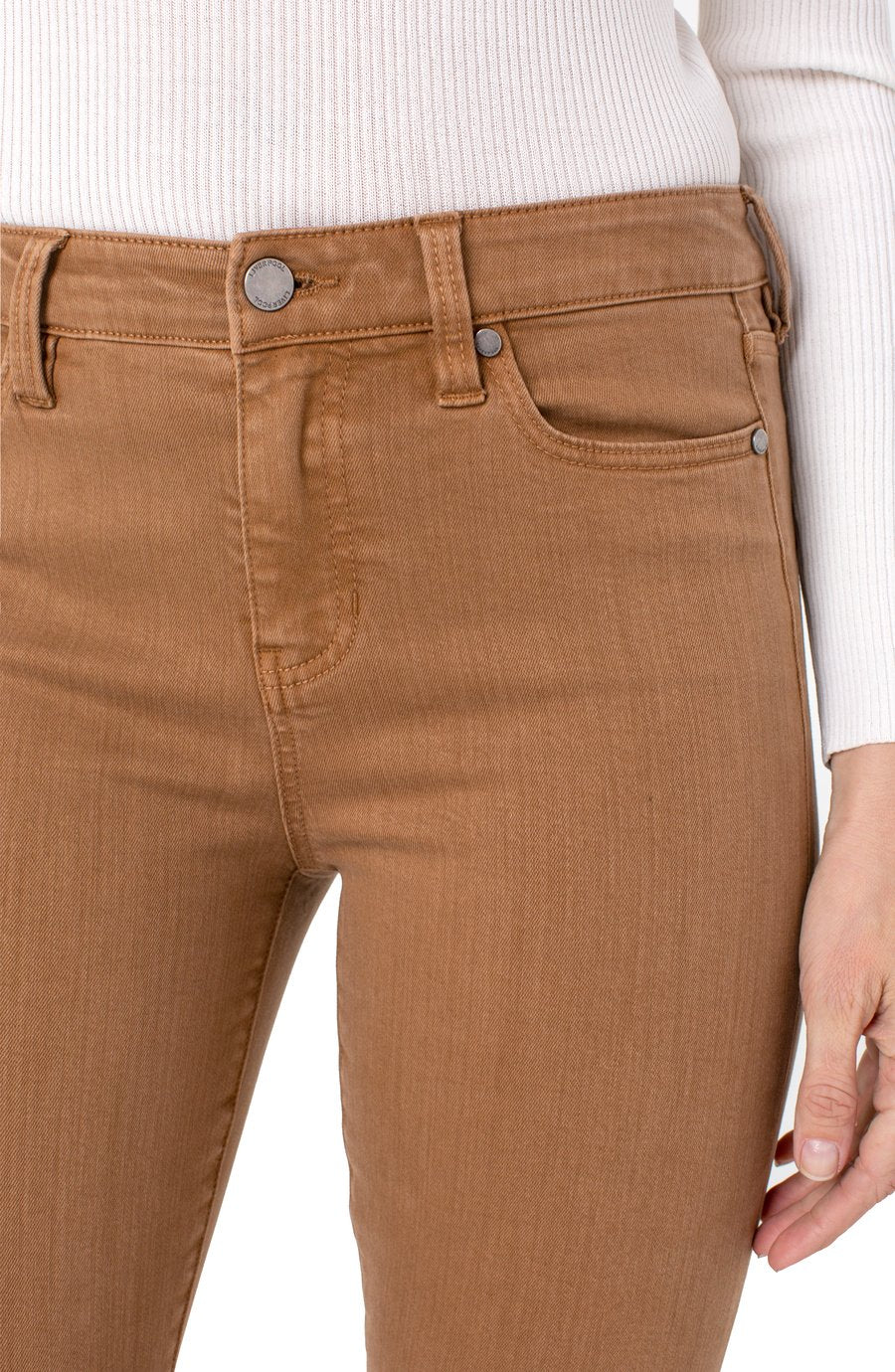 "Liverpool Abby Ankle Skinny Jean 28"" - Brown Bay"