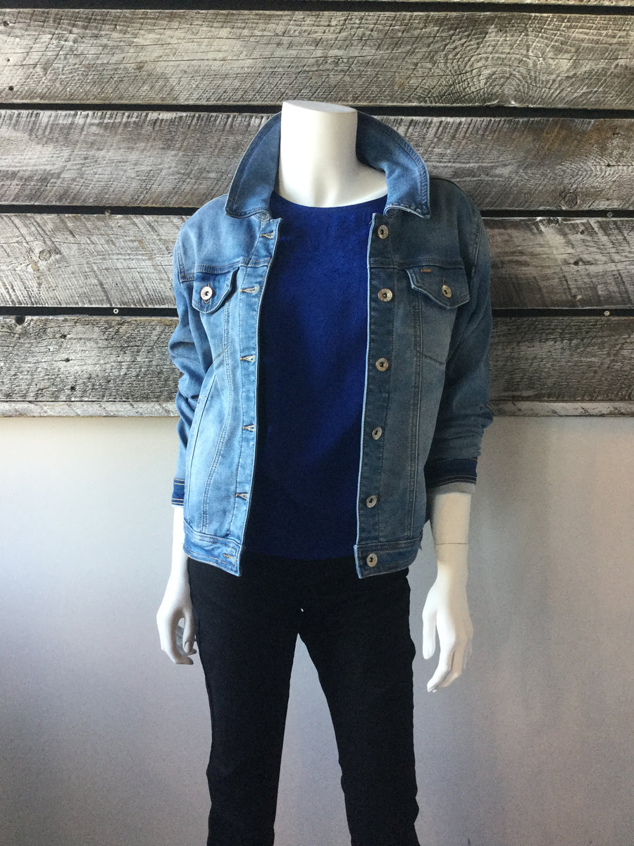 Lois 5765-5894-00 Steph Cropped Jean Jacket