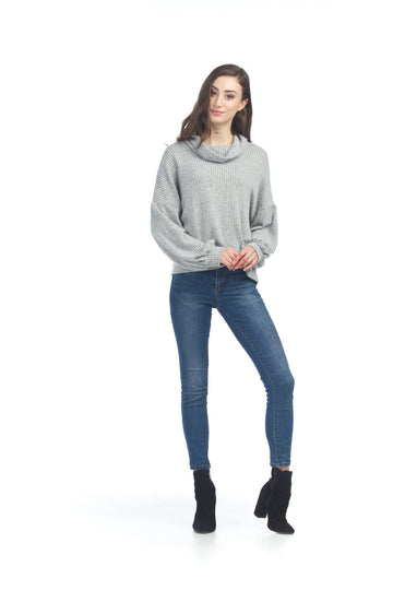 Papillon ST-06217 Soft Cowl Neck Sweater - Grey