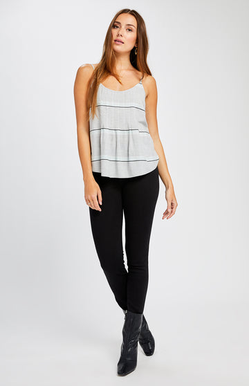 Gentle Fawn Julie Tank - Grey Widespace Stripe