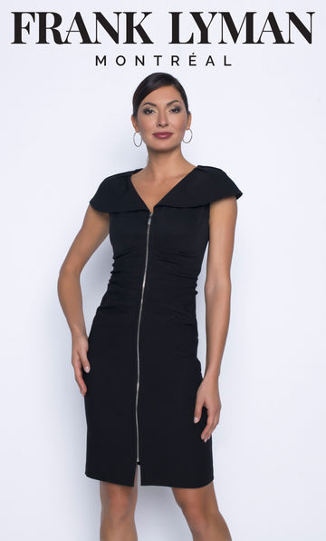Frank Lyman 196739 Black Woven Dress