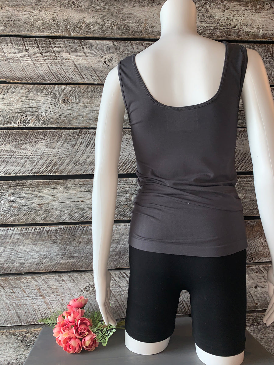 Orange BT-03 Bamboo Tank - Charcoal O/S