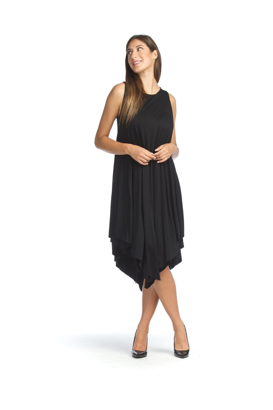 Papillon PD-8639 Jersey Layered Maxi Dress - Black