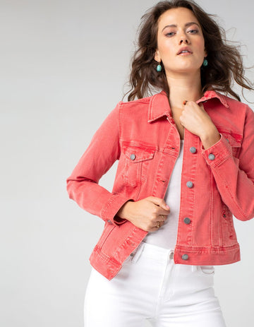 Liverpool Classic Jean Jacket - Coral