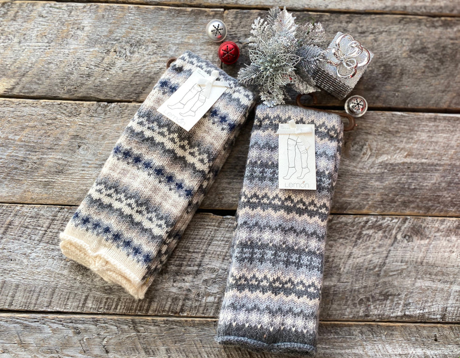 Lemon L-8002 Winter Fairisle Legwarmer - Med Grey