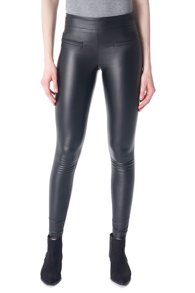 I Love Tyler Madison 156024 Mara Waxed Basic Pant - Black