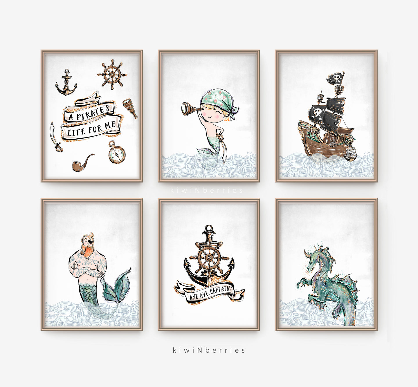 Pirates - set of 6