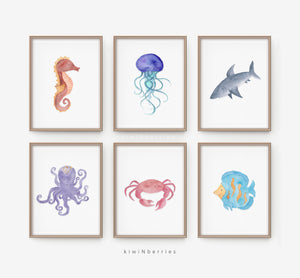 Sea Animals - set of 6