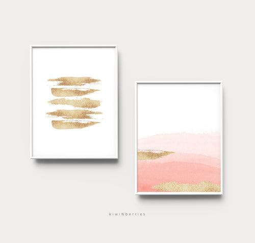 Abstract Watercolors No.1 - set of 2