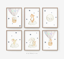 Load image into Gallery viewer, Baby Animals on the Air - set of 6