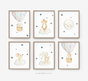 Baby Animals on the Air - set of 6