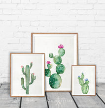 Load image into Gallery viewer, Cactus Watercolor - set of 3