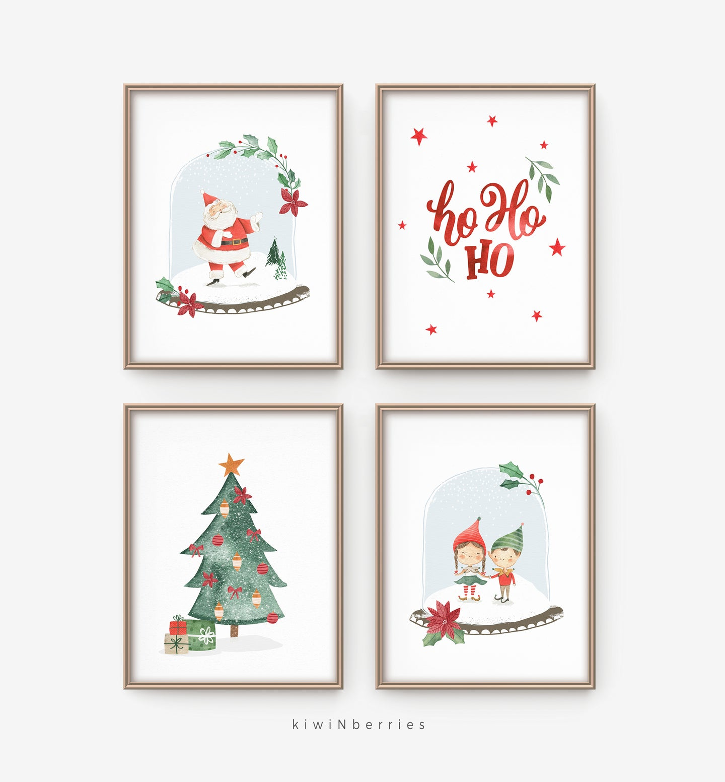 Cute Christmas - set of 4